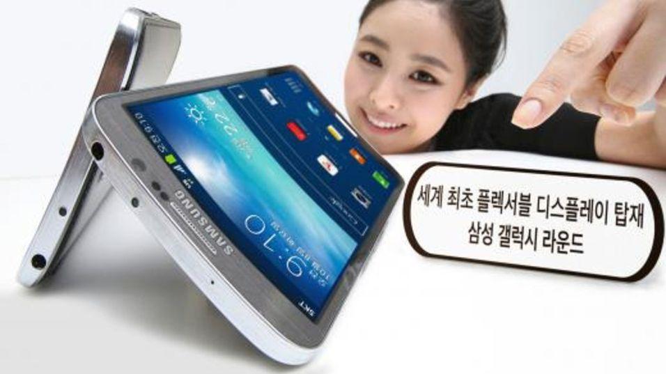 Galaxy Round er buet i lengderetningen, og kommer med spesifikasjoner som likner veldig på Galaxy Note 3.