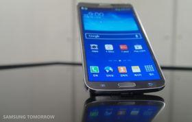 Det er Samsungs velkjente Touch Wiz-menyer som kjører på Galaxy Round.