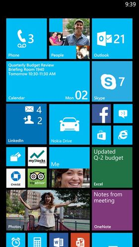 Det blir mulig å ha flere «fliser» i bredden hvis du har en Windows-mobil med stor skjerm.