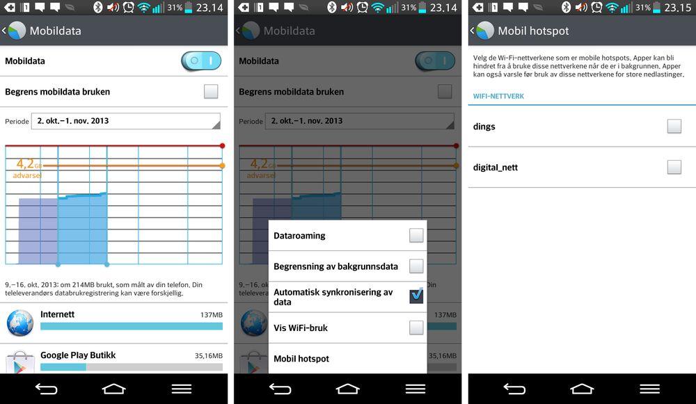 Ved første øyekast likner datamåleren i LG G2 på de du finner i de fleste andre Android-mobiler. I realiteten har LG gjort noen viktige endringer.