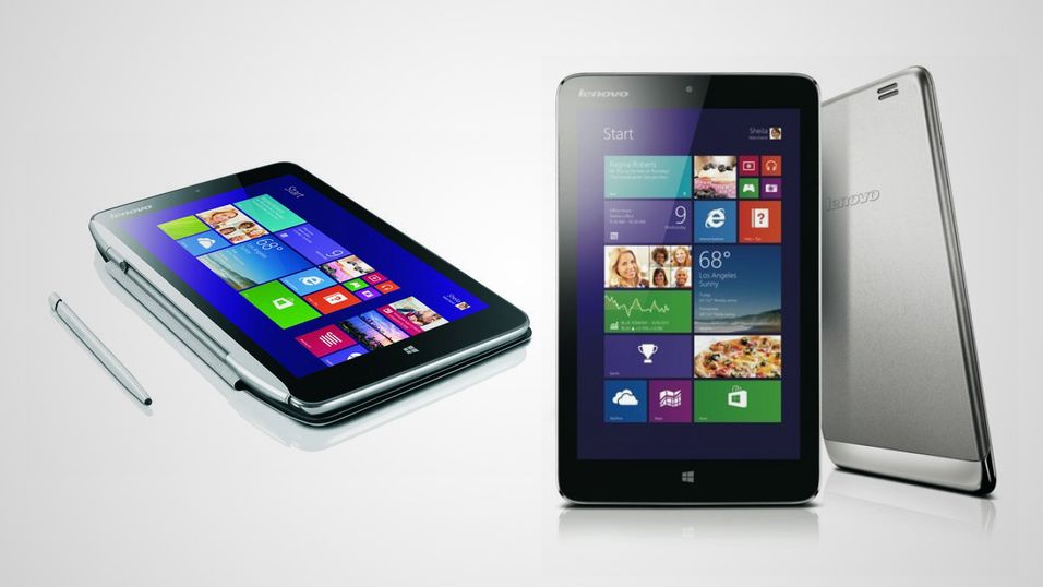 Nå kommer 8-tommerne med Windows 8.1