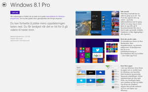 Windows 8.1 kan nå hentes ned fra «Windows Store» om du har Windows 8.