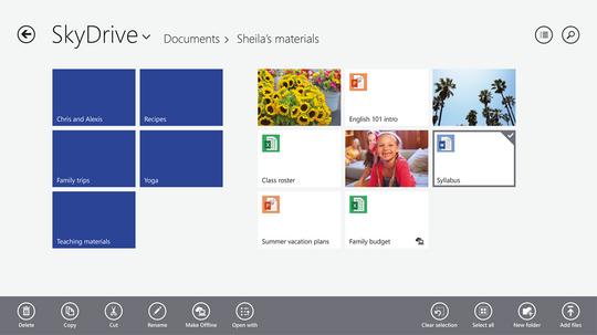 SkyDrive blir nå mer integrert.
