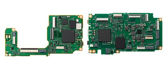 Bildeprosessor i henholdsvis GM1 og GX7.