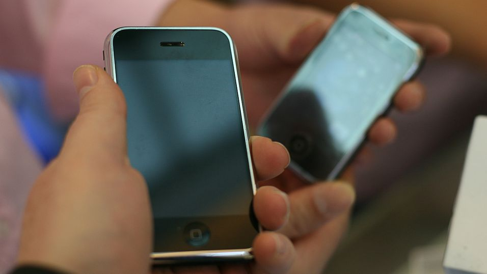 Ekte og falsk iPhone i Kina.