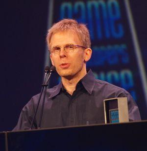 John Carmack under et GDC-foredrag i 2010.