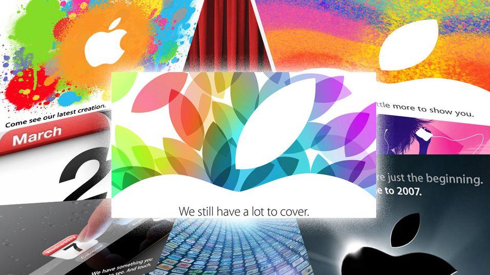 Se 10 år med Apple-invitasjoner