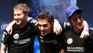 ocelote med to andre spillere fra SK Gaming.