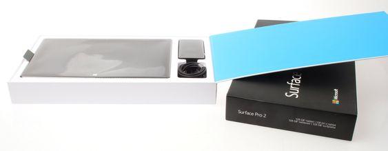 Surface Pro 2 er pakket på samme måte som forgjengeren.