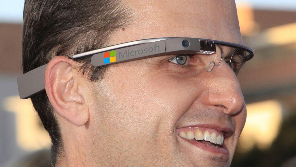 Microsoft jobber med Google Glass-konkurrent, ifølge Wall Street Journal. (Illustrasjonsfoto/montasje - bildet viser Google Glass)