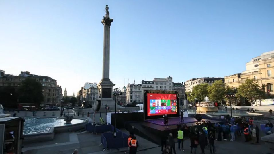 Microsoft har bygd enorm Surface i London
