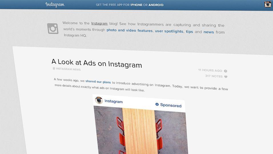Slik vil reklame se ut på Instagram