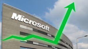 Kraftig økning i omsetningen for Microsoft