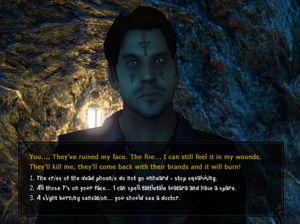 Dialogvalgene som Malkavian er noen ganger rimelig sære.