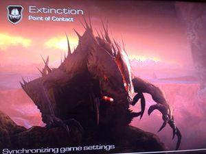 Lekket skjermbilde som angivelig viser Extincition-modusen.