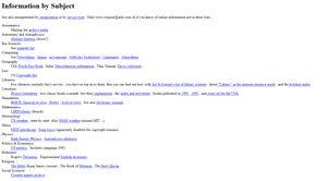 I 1992 kunne man katalogisere alt innholdet på verdensveven på én enkelt side. Det finnes merkelig nok ingen «rosablogg»-kategori.
