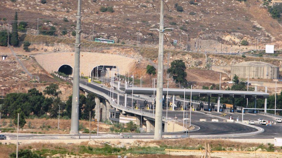 En av «Carmel Tunnels»-tunnelene.