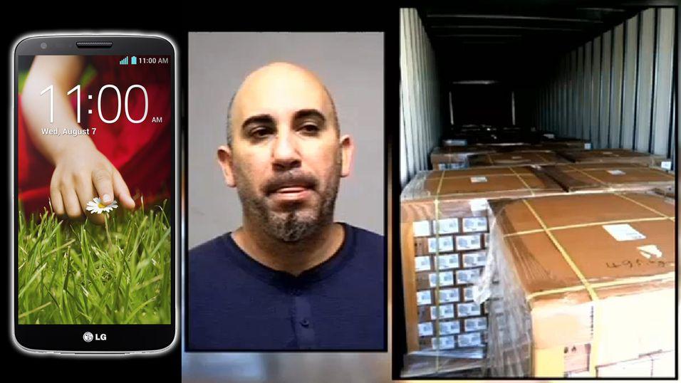 Stjal 22 500 smarttelefoner – krasjet i en stolpe