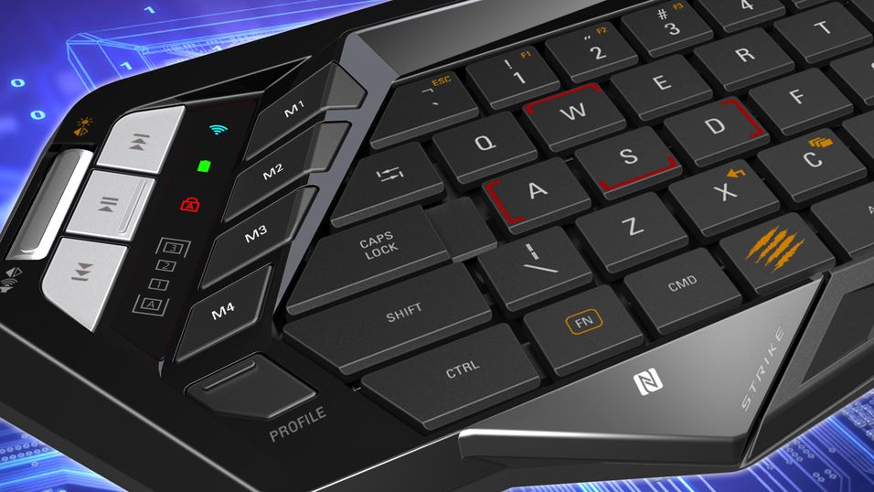 Ultrakompakt spilltastatur laget for folk på farten