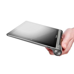 Enhåndsgrep på Lenovo Yoga Tablet.