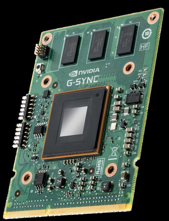 G-Sync-modulen som står i skjermen.