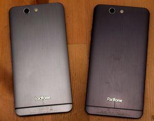 Ser du forskjellen? PadFone Infinity til venstre, og PadFone A86 til høyre.