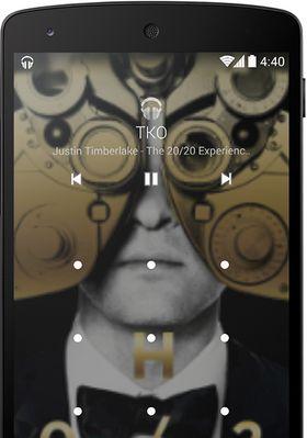 Låseskjermen kan nå vise albumgrafikk, eller grafikk som tilhører serier eller filmer som vises via Chromestick.