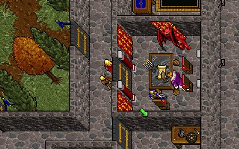 På besøk i Lord British' slott i Ultima VII: The Black Gate.