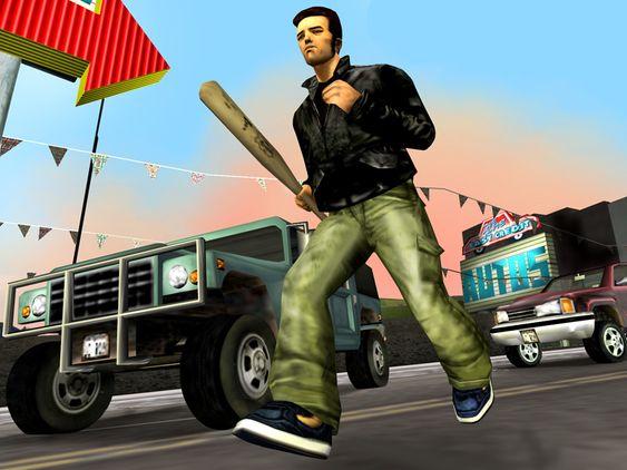 Et av promobildene fra Grand Theft Auto III (også kjent som et «bullshot»).
