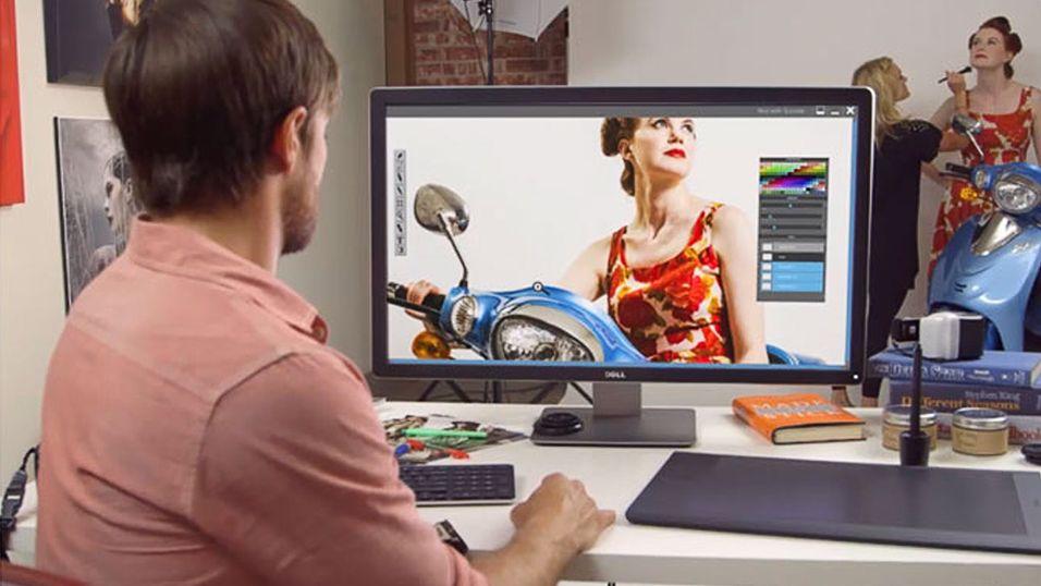 Superskjermen Dell UP3214Q har kommet i salg