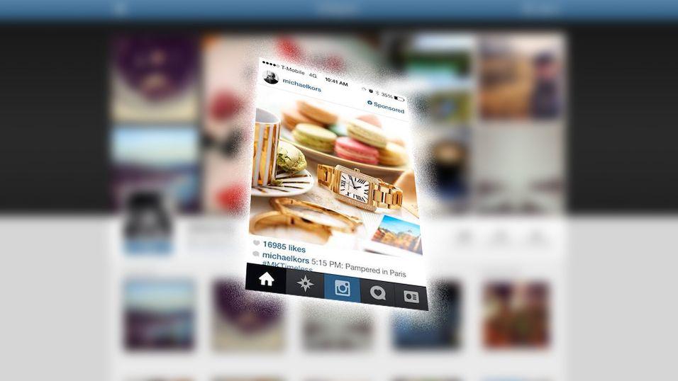 Instagram viser sin første reklame