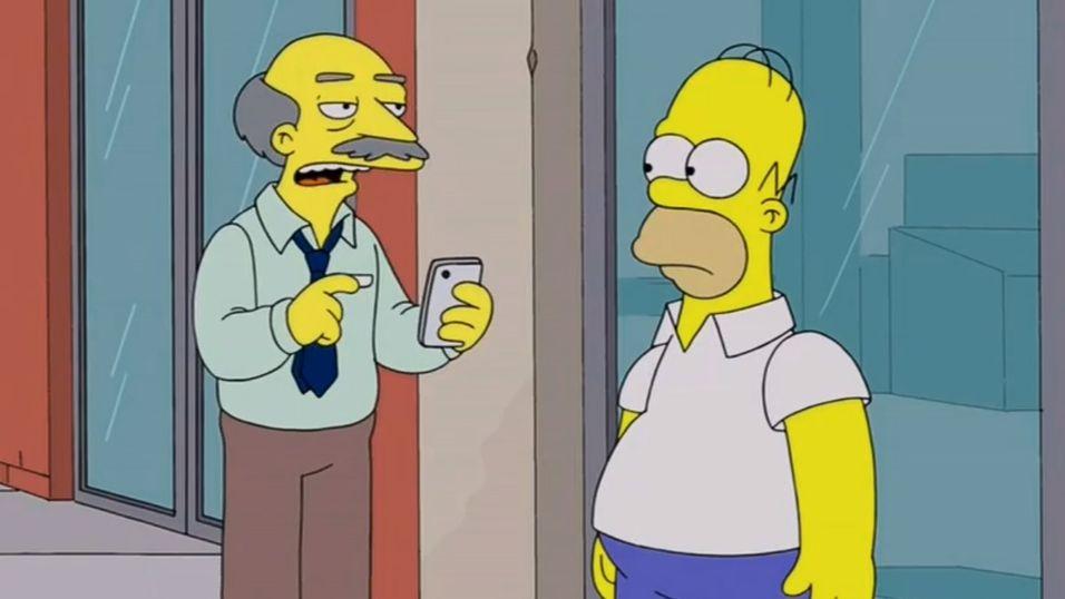 The Simpsons mobber Siri