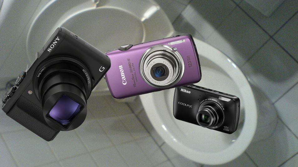 Salget av kompaktkameraer stuper