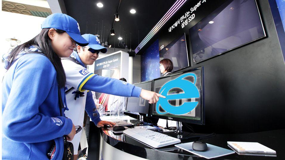 I Sør-Korea må shoppere bruke Internet Explorer