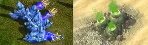 Ressursene – mineraler og gass – er noe av det viktigste i StarCraft II.