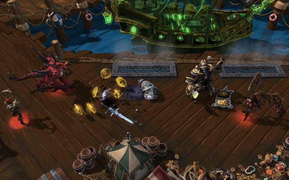Lagene må samle dubloner for å unngå å bli bombet av kanonene til kapteinen.