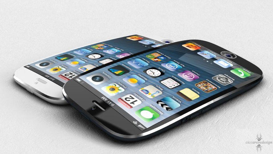 En av mange iPhone-konseptskisser fra designbyrået ciccaresedesign.com.