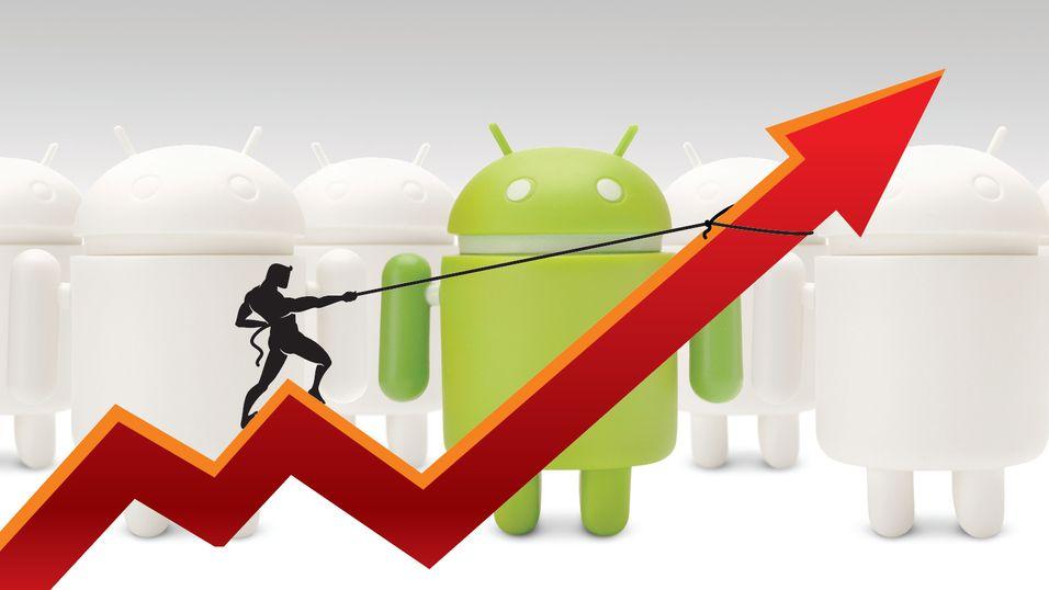 Android for første gang over 80 prosent