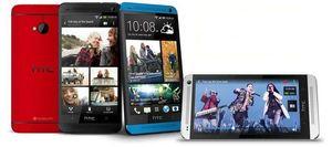 HTC One fås i fire ulike farger.