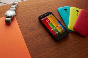 Motorola Moto G kommer i mange ulike farger.
