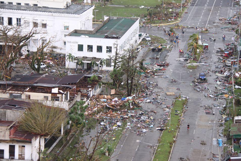 Eksempel på ødeleggelsene fra Filippinene.