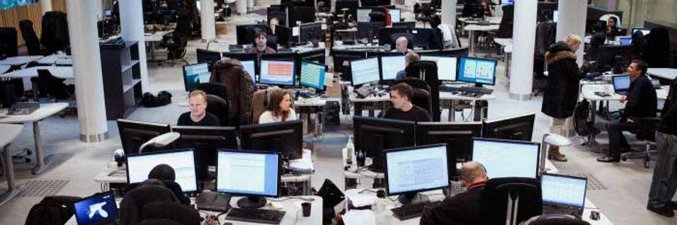 Det ble ei travel helg for de Telenor-ansatte på driftssentralen.