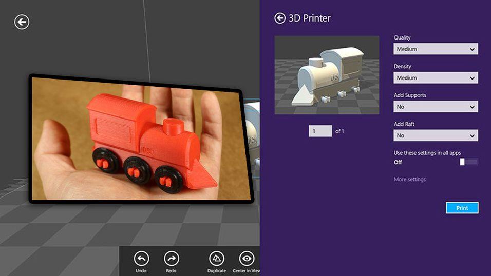 Nå får du egen Windows-app for 3D-printing