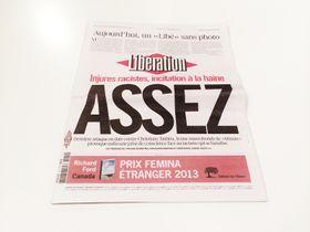 Forsiden av avisa, der bildemangelen blir forklart.