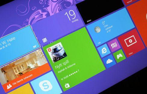 Med Windows RT 8.1 kan du velge flere størrelser på flisene enn før.