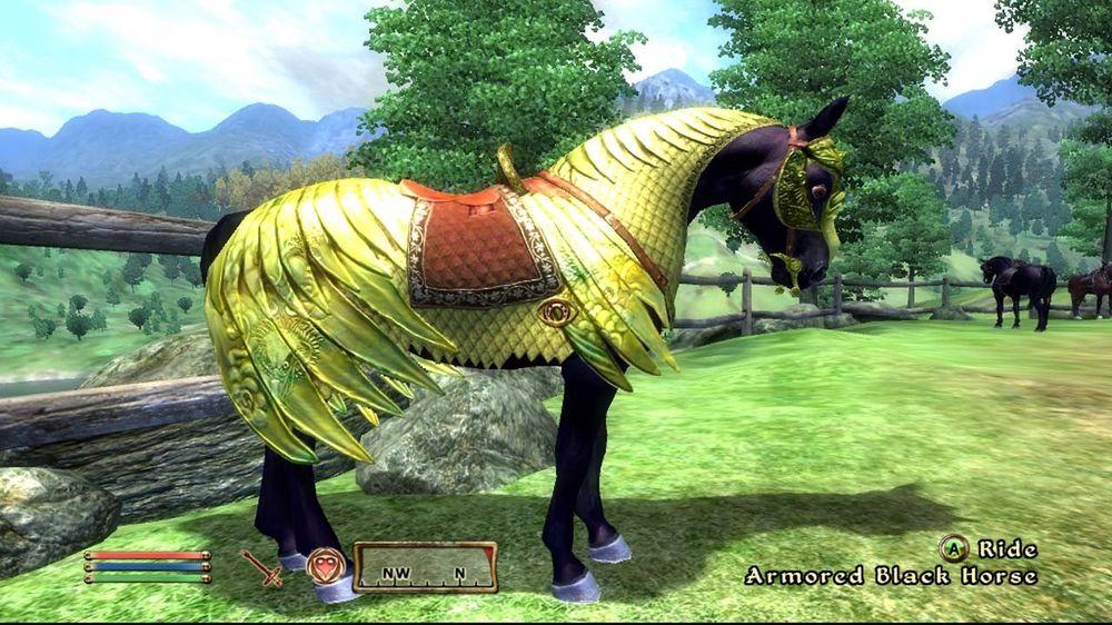 Denne hesterustningen i The Elder Scrolls IV: Oblivion var ikke gratis.