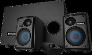 Corsair SP2500 2.1 høyttalersett.