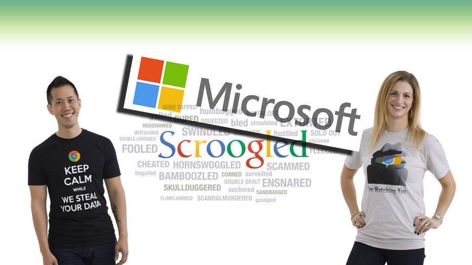 """Microsoft selger """"Vi stjeler dine data""""-t-skjorter"""