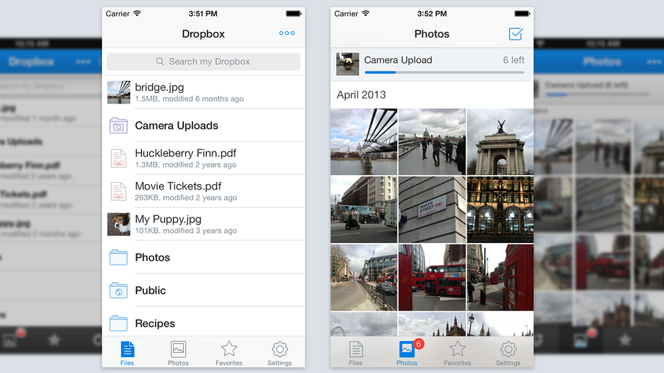 Dropbox-app har blitt ny på iPhone og iPad