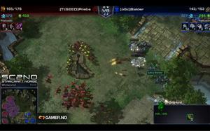 Avgjørende øyeblikk i femte og siste kamp mellom Prebs og Balder. (Skjermbilde: Gamer.no/SC2.no).